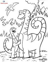 Small Picture Cute Dinosaur Coloring Page Printable Coloring Page For Kids