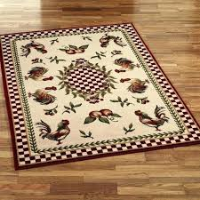 washable rooster rugs for the kitchen imposing staggering at