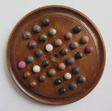 Wooden Board Game With Marbles 100th Century Marble Solitaire Board Game with 100 Handmade Marbles 5