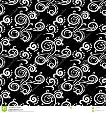 Bloemen Uitstekende Ornamenten Zwart Witte Naadloze Patronen Voor
