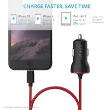 anker powerdrive lightning 12w car charger with 3ft lightning cable apple mfi certified iphone anker powerdrive lightning 12w car charger with 3ft