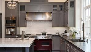Image of: Cool Kitchen Design Trends With White Wall Color And Grey