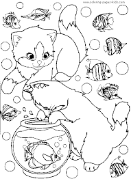 Small Picture Cat Coloring Pages Free And Printable Coloring Coloring Pages
