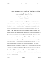 pdf introducing solving equations teachers and the one variable first curriculum