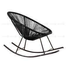 mellon outdoor rocking chair black