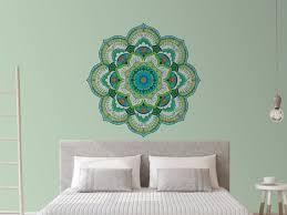 green mandala wall sticker extra large