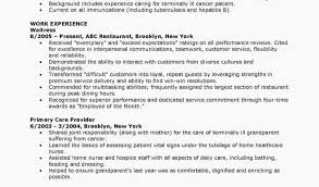 Cna Resume Sample With No Experience Examples Resumes Resume