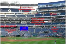 Detailed Nationals Park Seating Chart Nationals Park Seating Chart Rows Nationals Park Map With Rows