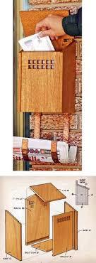 wall mount mailbox wooden mailbox