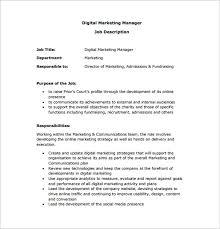 director job description marketing manager job description template 9 free word pdf