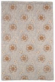 contemporary modern wool area rug carpet 5x8 hand tufted grey orange ivory