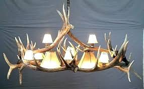 full size of deer antler chandelier real for faux fallow home improvement likable re