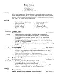 Inventory Manager Warehouse Production Traditional Inventory Resume