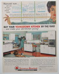 Kitchen Magazine 1950s Kitchen Vintage Youngstown Cabinet Magazine Advertisement