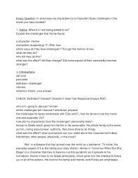 novel study essay