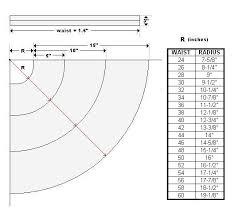 Circle Skirt Chart Three Tiered Skirt Weekend Designer