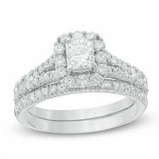 discount diamond wedding ring sets. t.w. certified radiant-cut diamond bridal set in discount wedding ring sets g