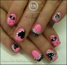 Pink and black nail designs trend manicure ideas in pictures. View Images  ...