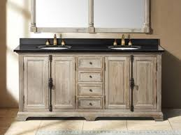 bathroom double sink cabinets. Rustic Double Sink Bathroom Vanity Under Two Framed Mirror And Laminate Floor Cabinets