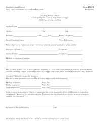 School Field Trip Permission Form Template Parent Permission Slip Template Metabots Co