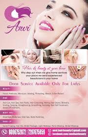 Beauty Parlour Flyer With Menu Design Harshini Creative
