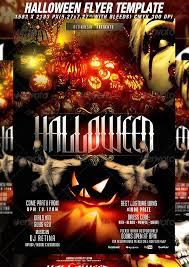 halloween party flyer template free free scary and horror psd halloween party flyer templates and free