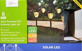 Mainstays Warm White Led Lights Amazon Com Pack Of 6 Solar Path Light 3000 K Warm White