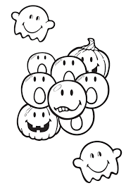 Coloriage Smiley Halloween Imprimer