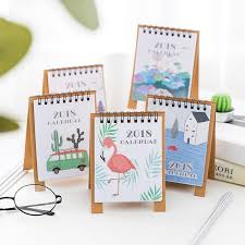 2018 2018 year new fresh style diy cartoon mini desktop paper calendar daily scheduler table planner yearly agenda organizer notebook from newcute