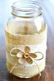 Mason Jars Decorated With Burlap Mason Jar Centerpieces with Burlap Lace Mason jar centerpieces 2