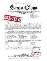 8 Free Printable Santa Warning Letter