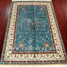 1 4ft x 6ft blue all over turkish silk hand made oriental rugs