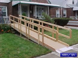 wooden wheelchair ramps design build ada wheelchair ramp 1000 ideas