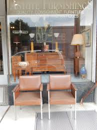 century office. Pair Of Vintage Mid Century Office Chairs In Brown By All Steel Furniture Co - Astute Furnishings