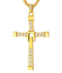caratcube fast and furious vin sel inspired austrian crystal gold cross pendant for men caratcube fast and furious vin sel inspired austrian