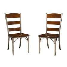 metal dining chairs home styles bordeaux wood metal dining chairs set