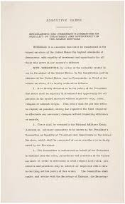 our documents executive order desegregation of the armed executive order 9981 desegregation of the armed forces 1948