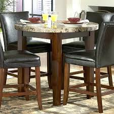 marble top round kitchen table counter height with black m