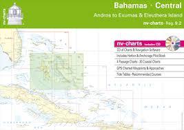 Nautical Charts Central America Reg 9 2 Nv Atlas Bahamas Central Andros To Exumas Eleuthera Islands