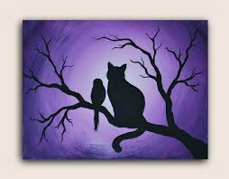 image of black canvas painting ideas