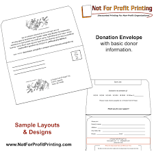 Sample Layouts Designs For Donation Envelopes And Remittance