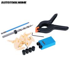 Us 9 87 20 Off Mini Pocket Hole Jig Set 6 8 10mm Drills Sleeve 9 5mm Step Drill Guide Clamp Plugs Screws For Kreg Woodworking Doweling Joinery In