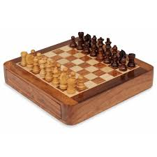 travel chess set deluxe magnetic with push out drawer 7