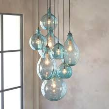 recycled glass chandelier hand blown glass lighting foyer staircase chandelier intended for regarding hand blown glass recycled glass chandelier
