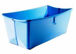image of folding portable bath tub