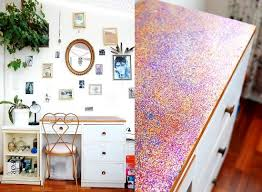 diy glitter furniture. iu0027ve turned the previously paintmarked and scratched surface of my desk into glitter wonderland its fresh dreamy new look makes me wanna sit down more diy furniture