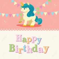 Birthday Card Template Free Unicorn Powerpoint Templates