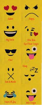 Emoji Embroidery Designs Embroidery Machine Designs Emoji Faces Set