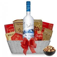 grey goose original vodka gift basket