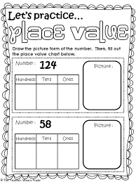 First Grade Math Place Value Worksheet | Homeshealth.info